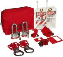 Brady Breaker Lockout Sampler Pouch Kit, Includes 2 Steel Padlocks,red - 105968
