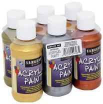 Sargent Art Metallic Acrylic Paint Set, 6-Pack