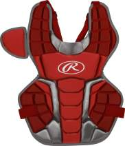 Rawlings Renegade 2.0 Youth NOCSAE Baseball Protective Catcher's Gear Set, Scarlet and Silver