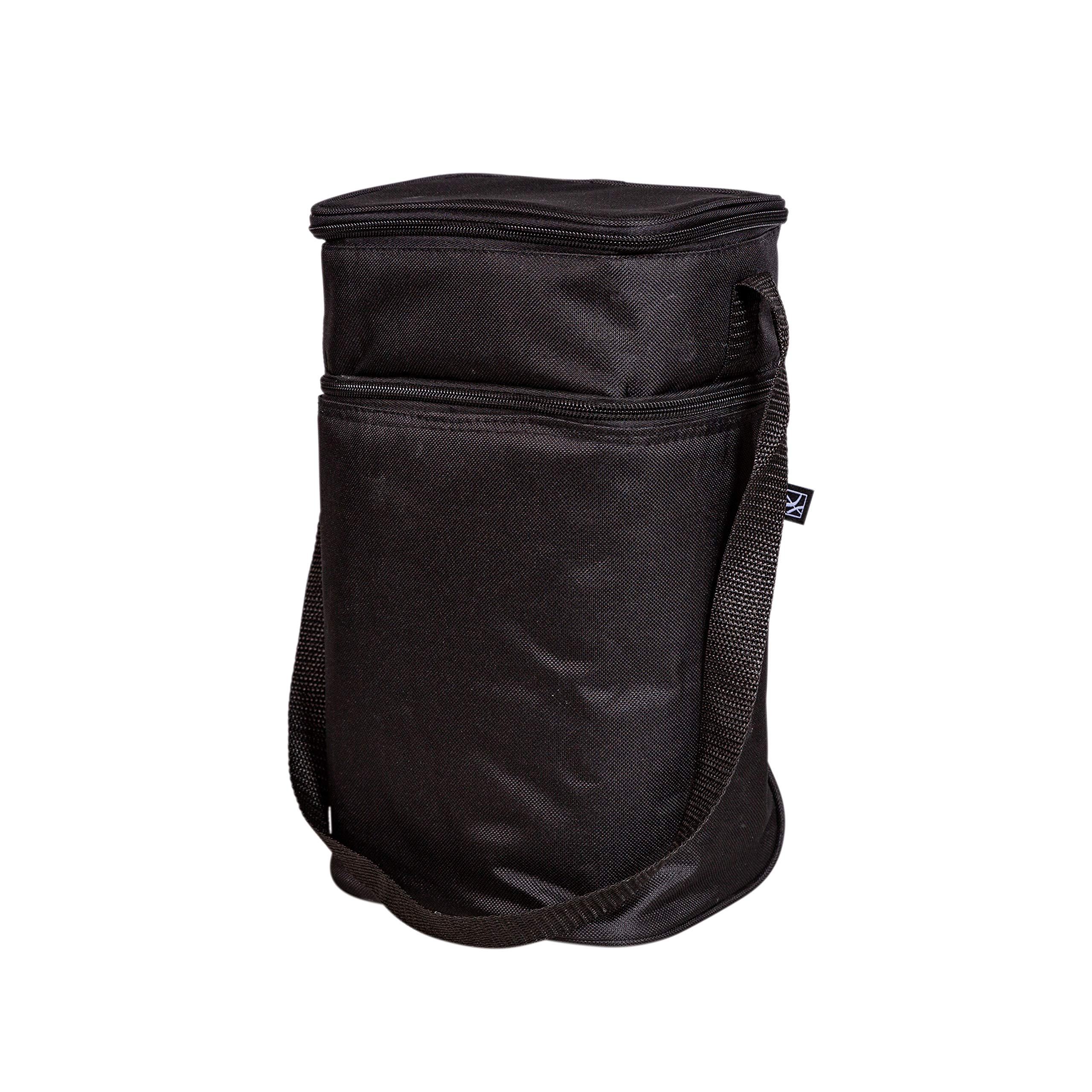 J.L. Childress 6 Bottle Cooler, Insulated Breastmilk Cooler and Lunch Bag for Baby Food and Bottles, Leak-Proof and Heat-Sealed, Ice Pack Included, Black
