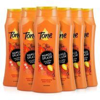 Tone Body Wash, Mango Splash, 18 Ounce (Pack of 6)