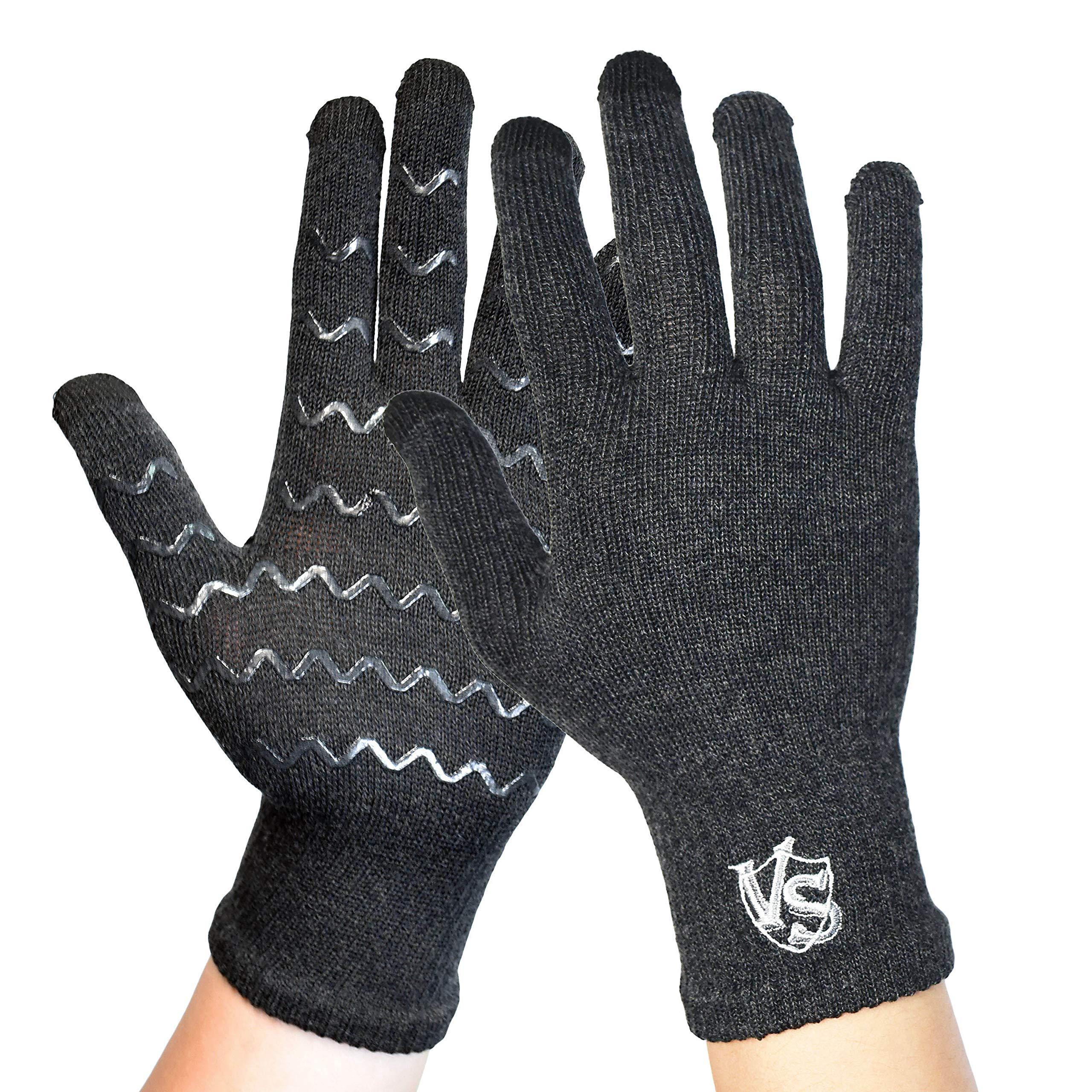 Vital Salveo Full Finger Touchscreen Arthritis Gloves NonSlip Carpal Tunnel-Pair