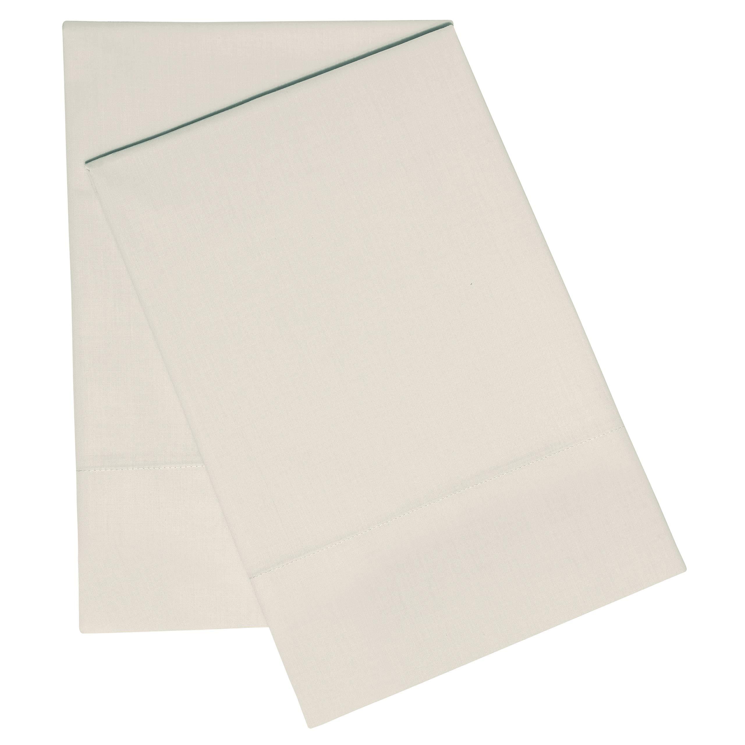 EnvioHome GOTS Certified 300 Thread Count 100% Organic Cotton Pillowcase Pair - Natural, King