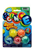 JA-RU Bouncy Balls Superballs Super Hi Bounce (1 Pack of 5 Balls) Small Toys Party Favors for Kids Racketball Kids Prize Premium Gift Toy Includes 1 Collectable Ball I Item #973-1p