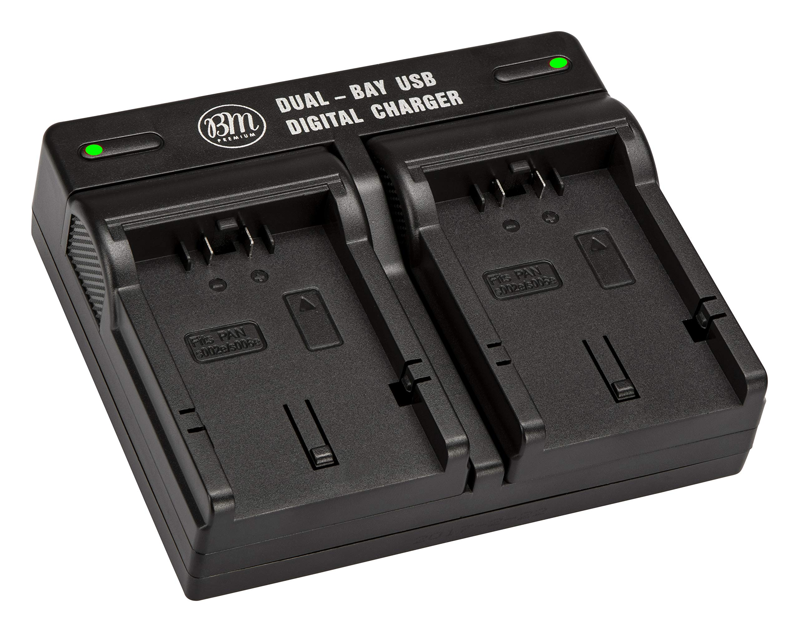 BM Premium CGA-S006 Dual Battery Charger for Panasonic Lumix DMC-FZ7, DMC-FZ8, DMC-FZ18, DMC-FZ28, DMC-FZ30, DMC-FZ35, DMC-FZ38, DMC-FZ50 Digital Camera