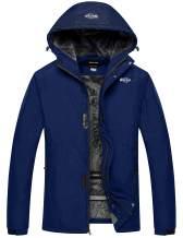 Wantdo Men's Snowboard Winter Jacket Waterproof Ski Coat Hooded Windproof Parka