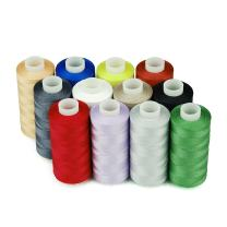 Simthread 12 Multi Colors 100% Cotton Sewing Thread 50s/3 Thread for Quilting etc - 550 Yards Each