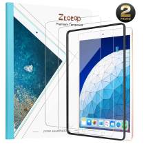 Ztotop Screen Protector for iPad Air 3 10.5 Inch 2019/iPad Pro 10.5 Inch 2017(2-Pack)Tempered Glass, Easy Installation/ High Definition/Scratch Resistant and iPad Pencil Compatible 9H Screen Protector