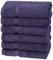 Pinzon Organic Cotton Hand Towels, Set of 6, Navy