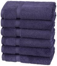 Pinzon Organic Cotton Hand Towels, Set of 6, Navy