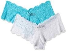Smart & Sexy Women's Signature Lace Cheeky Boyleg Panty, 2-Pack
