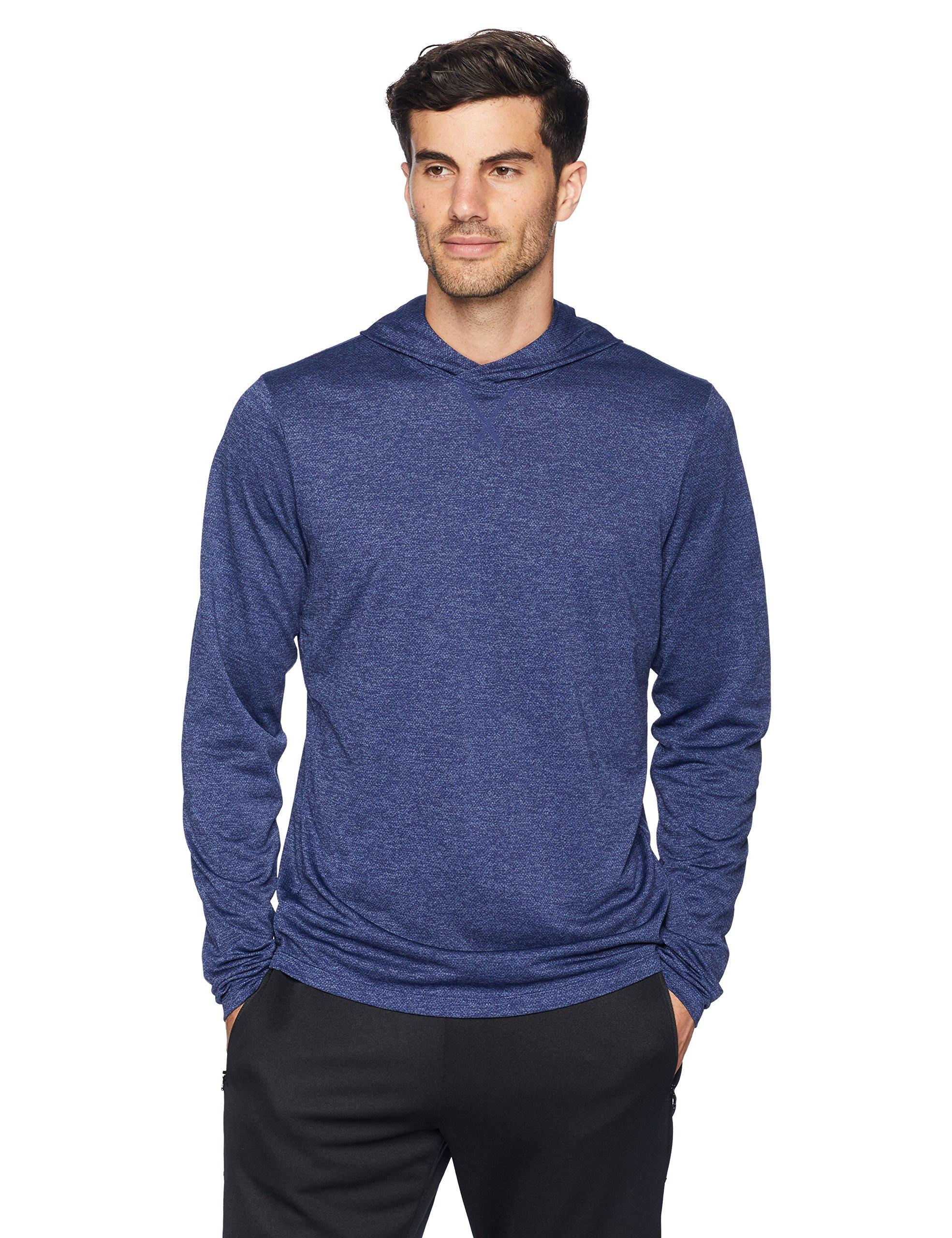 Amazon Brand - Peak Velocity Men's VXE Long Sleeve Quick-dry Loose-Fit Hoodie