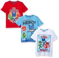 PJ MASKS Toddler Baby Boys' 3 Pack Short Sleeve Graphic T-Shirt