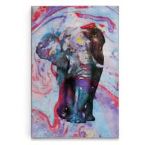 Renditions Gallery Watercolor Elephant Gallery Wrapped Canvas Wall Art, 18x27, Pink