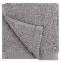 Everplush Flat Loop Quick-Dry Washcloth Towel Set, 6 Pc, Ash