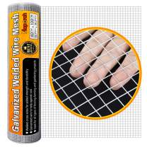 MAPORCH 40cm x 100cm (15.7''x 39.3'') Hardware Cloth 1/2 Inch Square Galvanized Chicken Wire Welded Fence Mesh Roll Raised Garden Bed Plant Supports, for Rabbit Wire, Poultry Fencing, Snake Fence