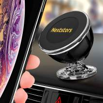 Phone Holder for Car Magnetic Universal Magnetic Phone Car Mount 360 Degree Rotation from Dashboard Cell Phone Holder for Car Compatible with All Smartphones (Black New)