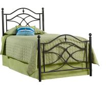 Hillsdale Furniture Hillsdale Cole Frame Twin Bed, Black twinkle