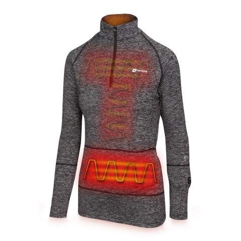 Woman Heated Underwear Thermal Warm Base Layer Washable USB Insulated Electric Heating Underwear for Winter Skiing