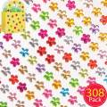 Baker Ross Mini Self-Adhesive Acrylic Flower Gems, for Kids Arts and Crafts Embellishments (Pack of 308)