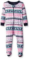 The Children's Place Baby Girls' Christmas Long Sleeve One-Piece Pajamas