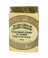 Our Own Candle Company Glycerin Bar Soap, Coconut Lime Loofah, 4 oz (3 Pack)