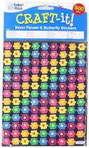 Mini Flower & Butterfly Stickers (Pack of 500)