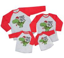 7 ate 9 Apparel Matching Family Christmas Shirts - Tree Rex Dinosaur Red Shirt