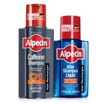 Alpecin C1, Caffeine Shampoo 8.45 fl oz + Alpecin After Shampoo Liquid 6.76 fl oz, Caffeine Shampoo + Tonic Cleanses the Scalp to Promote Natural Hair Growth, Leaves Hair Feeling Thicker and Stronger
