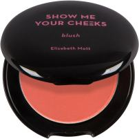 Natural Glow Powder Blush Makeup: Elizabeth Mott Show Me Your Cheeks Blush Powder - Buildable & Blendable Cheek Blush with a Light Shimmer - Paraben & Cruelty Free - Compact Blusher, Bright Coral