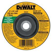 DEWALT DW4429 4-Inch by 1/4-Inch by 5/8-Inch Concrete/Masonry Grinding Wheel