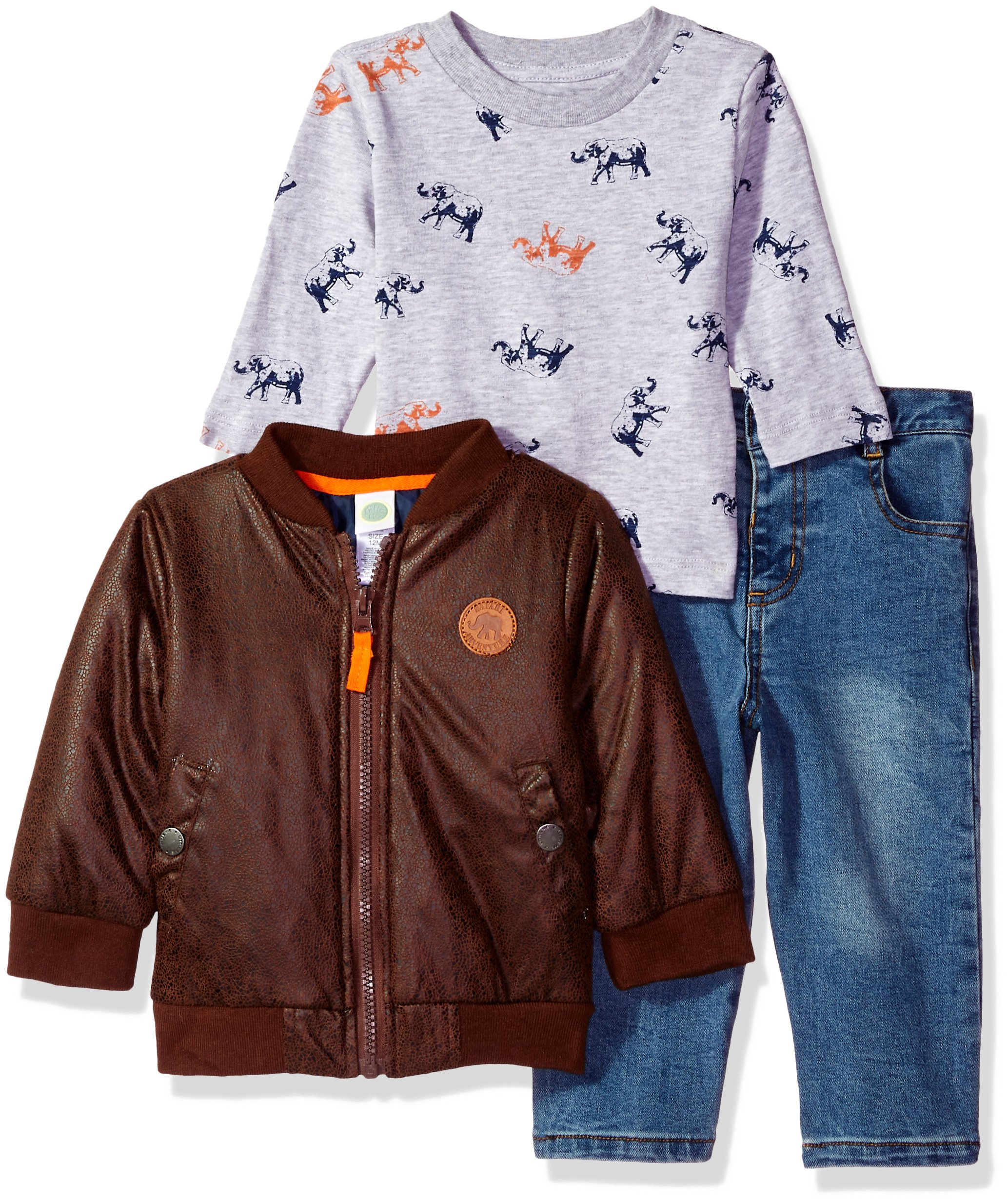 Little Me Baby Boys' 2 Piece Jacket and Pants Set