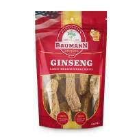 Baumann Ginseng Root (Medium)-100% American Ginseng/Ginseng Root/Wisconsin Ginseng/Hand-Selected Ginseng/Ginseng Extract- All-Natural Ginseng Supplements – 4oz