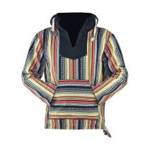 virblatt – Mens Lined Baja Hoodie Hooded Baja Sweater Baja Jacket Festival Clothing - Rotterdam
