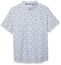 Original Penguin Men's Big and Tall Short Sleeve Printed Button Down Shirt