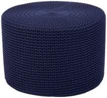 AmazonBasics Knit Foam Floor Pouf Ottoman, Navy