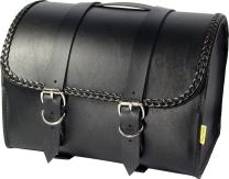 Dowco Willie & Max 58507-20 Braided Series: Synthetic Leather Motorcycle Max Pax Tour Trunk, Black, Universal Fit, 20 Liter Capacity