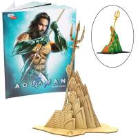 """DC Comics Aquaman Movie Figure Kit - Build, Paint and Collect Your Own 3D Wood Toy Model - for Kids and Adults - 5"""""""