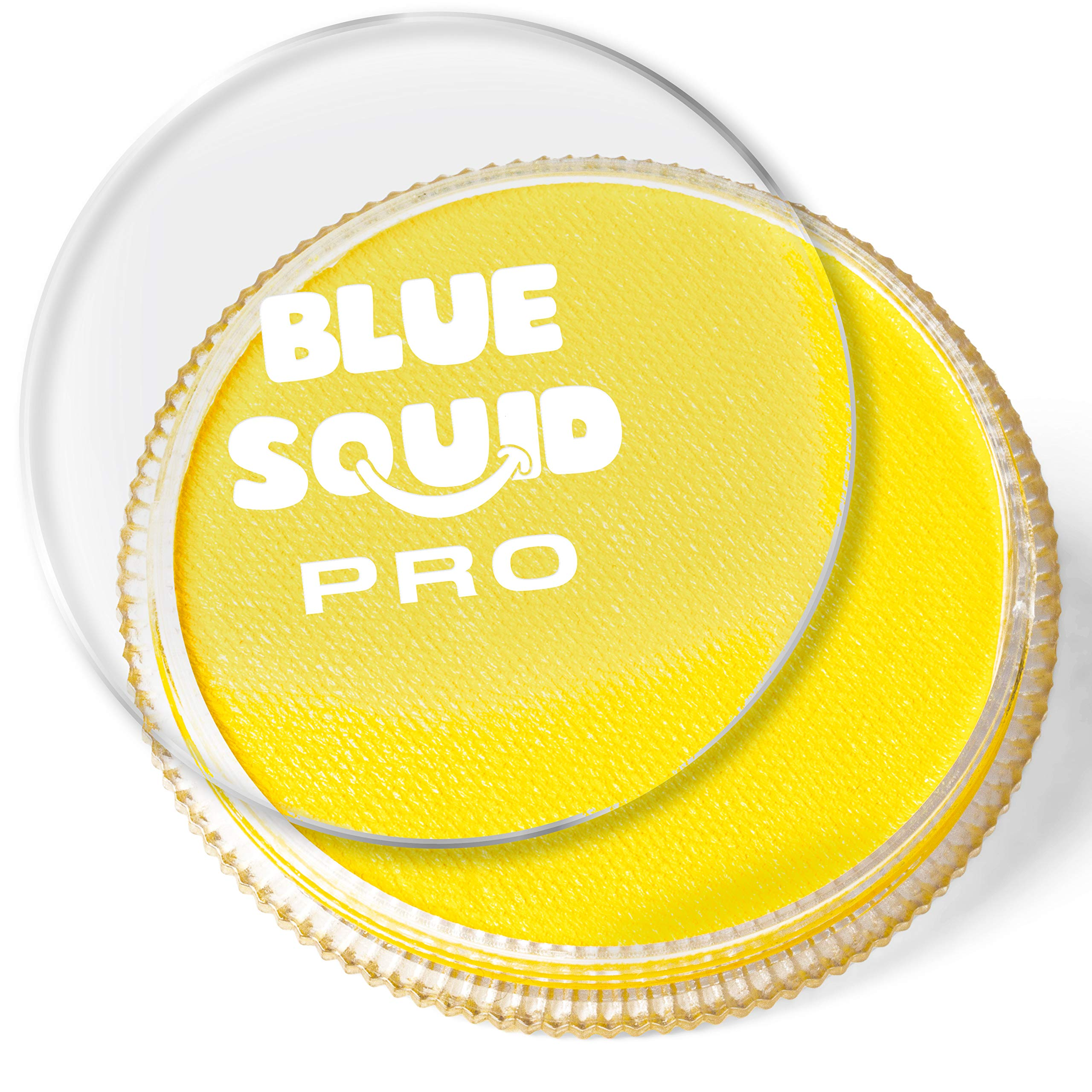 Blue Squid PRO Face Paint - Classic Yellow (30gm), Superior Quality Professional Water Based Single Cake, Face & Body Makeup Supplies for Adults, Kids & SFX