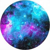 """iFUOFF Mouse Pads Blue Nebula Galaxy Fashion Design Round Mousepad Mat with Rubber 7.9"""""""