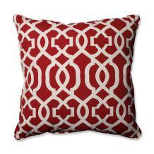 """Pillow Perfect Outdoor/Indoor New Geo Floor Pillow, 25"""" x 25"""", Red"""