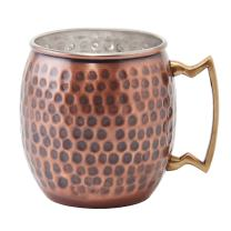Old Dutch Nickel-Lined Antique Copper Hammered Moscow Mule Mug, 16 Oz.