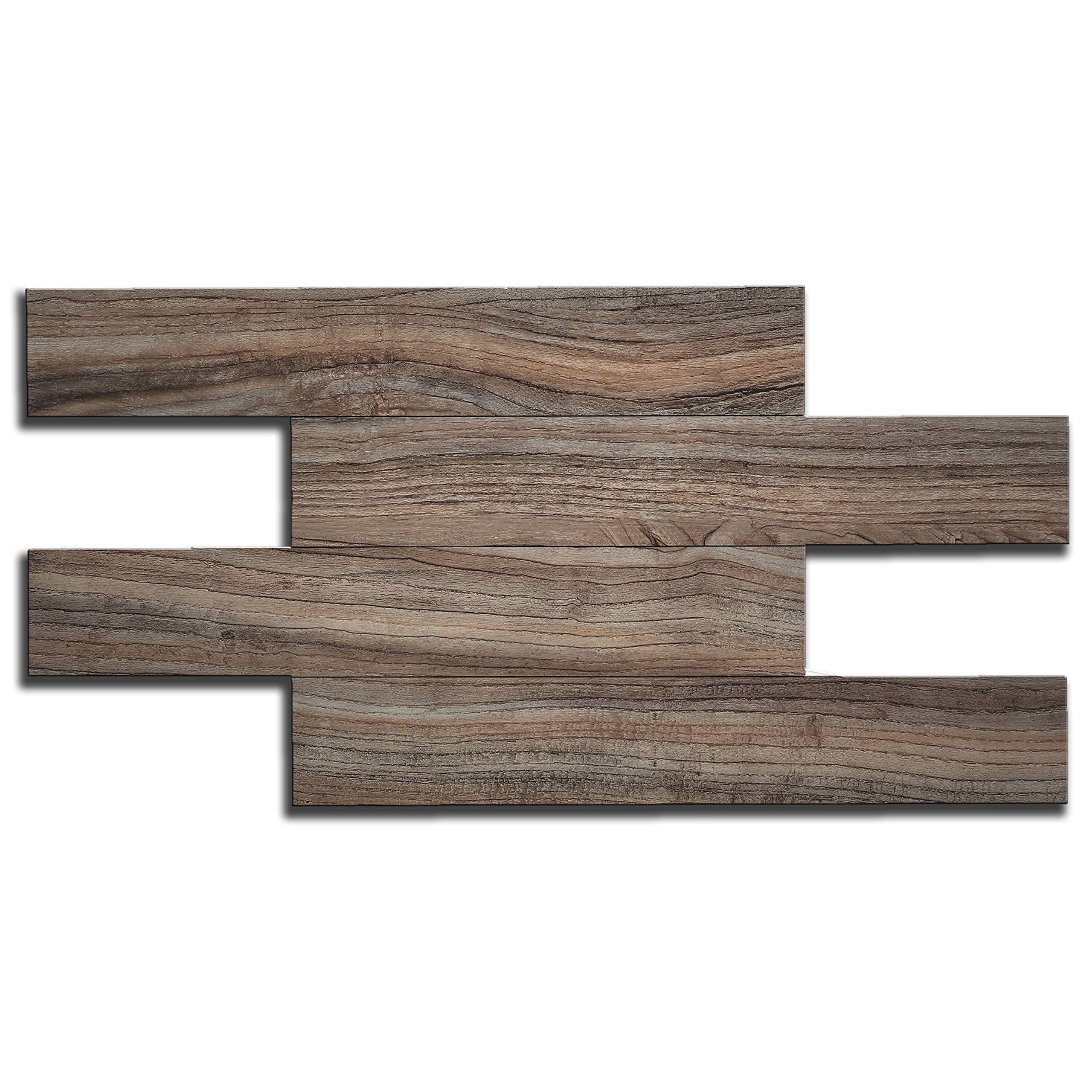 artesanía muro Kitchen Backsplash Tiles, Wood Grain, Adhesive, Fire Proof, Water Proof, Anti-Moldy,13.4 inch x 6.7 inch per Tile, Pack of 11 Tiles