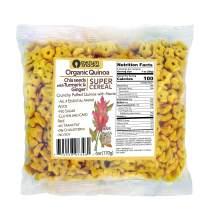 Awsum Snacks Organic Quinoa with Chia Seeds Turmeric Curcuma Ginger & Stevia SUPER SNACK - Healthy Immune Support Snack - Sugar Free Kosher Gluten Free Cereal - Non GMO, Vegan Diabetic Cereals - 6 oz