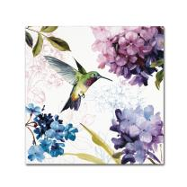 """Spring Nectar Square II Wall Decor by Lisa Audit, 24"""" x 24"""" Canvas Wall Art"""