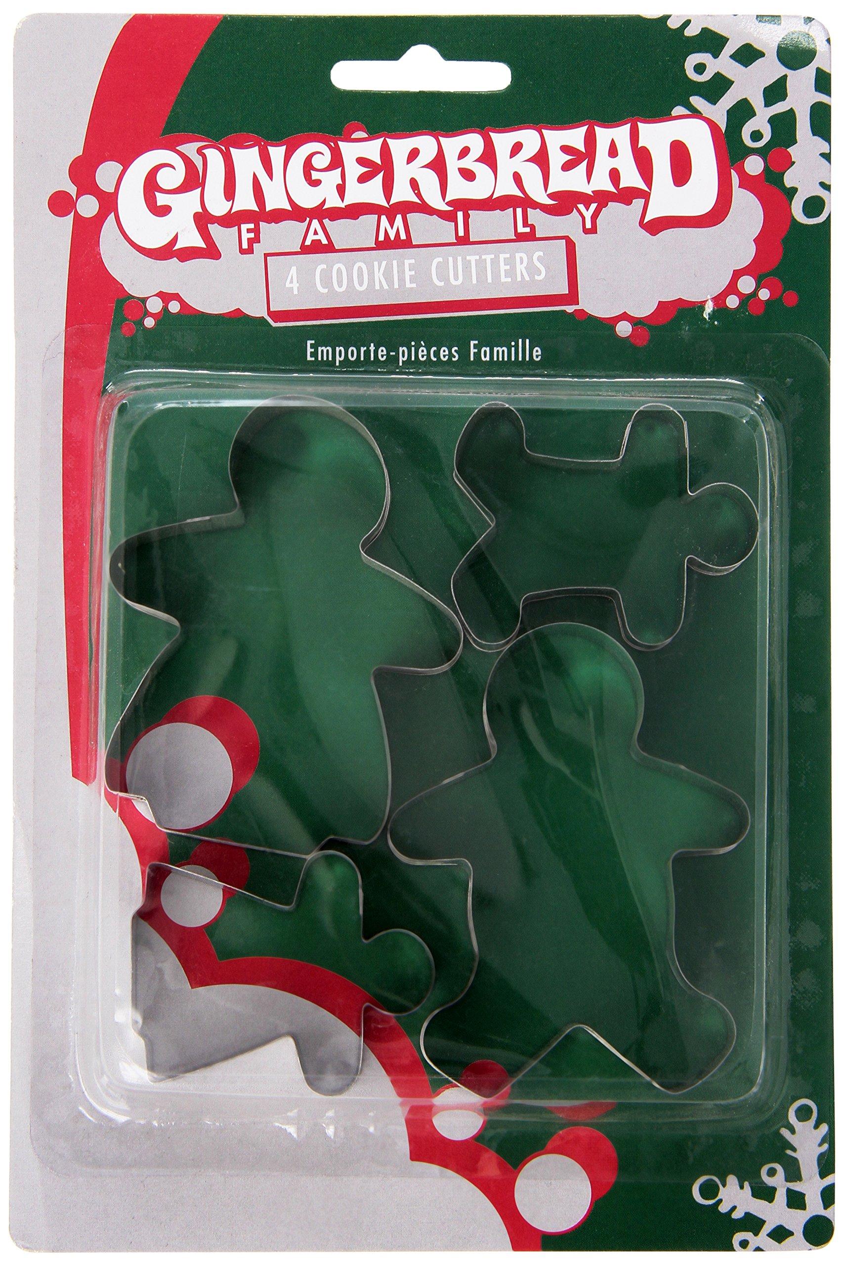 Fox Run 3553 Gingerbread Family Cookie cutters, 1.25 x 5.75 x 8.75 inches, Metallic