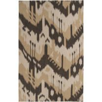 Surya Jewel Tone JT-2034 Flatweave Hand Woven 100% Wool Bronze 2' x 3' Global Accent Rug
