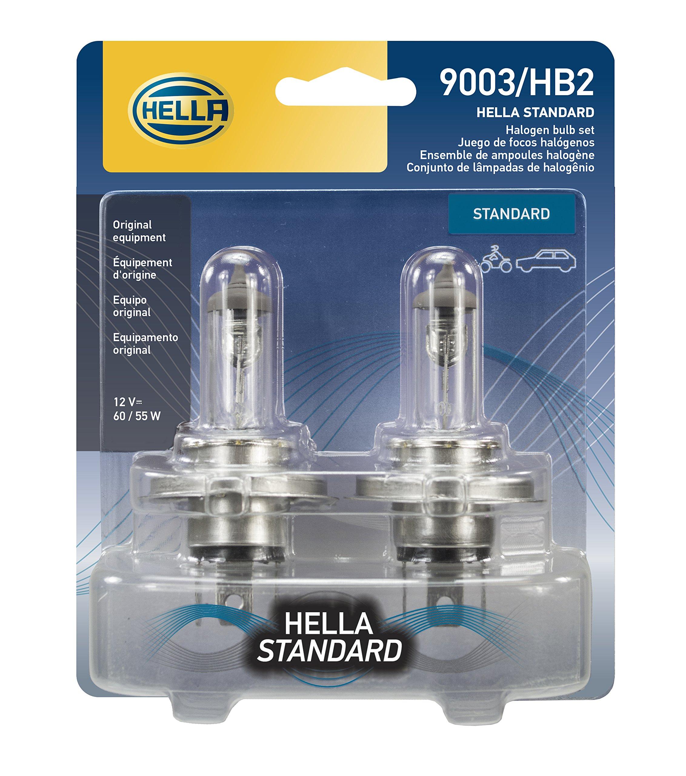 HELLA 9003TB Standard Halogen Bulbs, 12 V, 60/55W