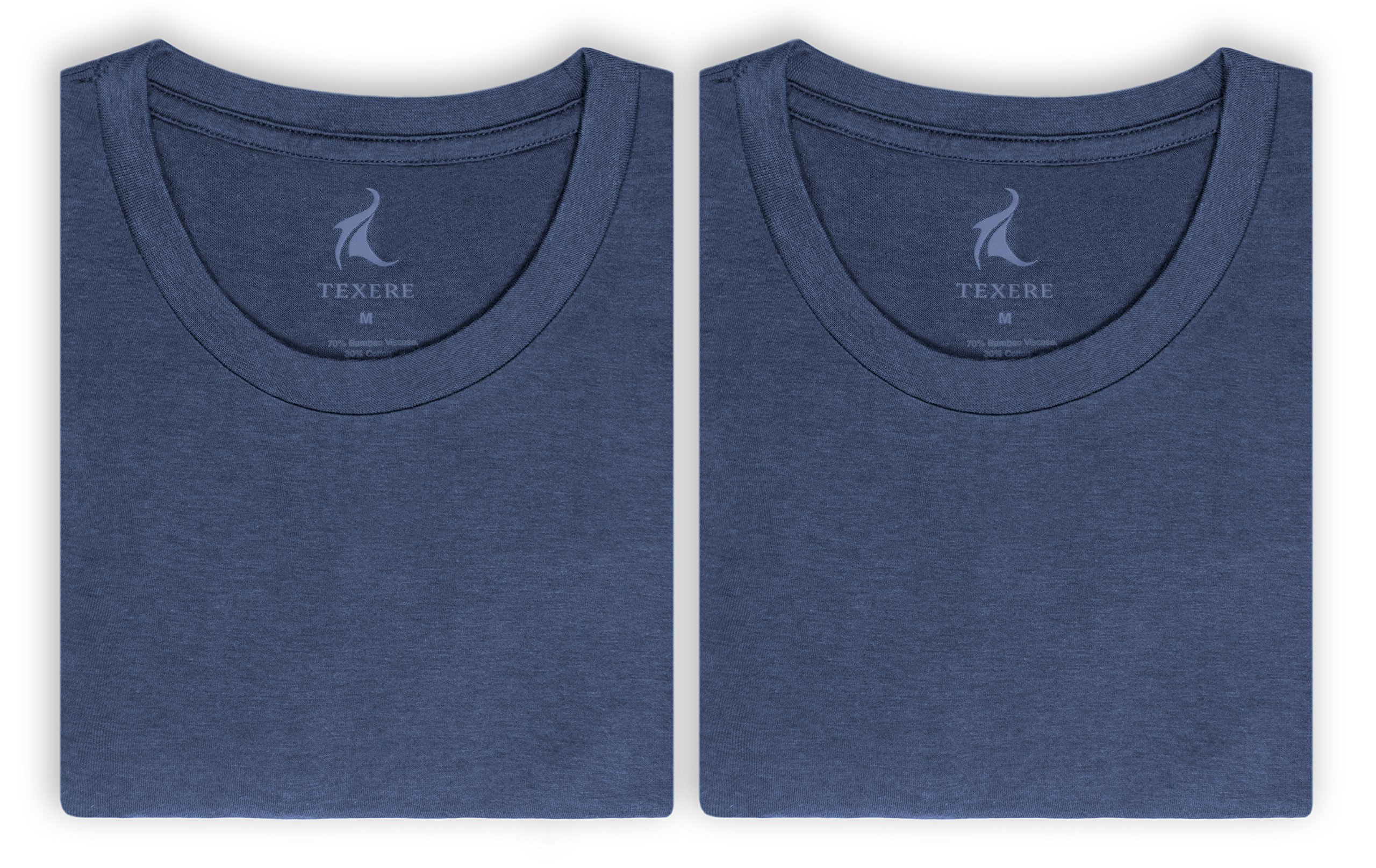Texere Crew Neck Undershirt for Men (Dexx, Air Force Blue, M) Best Tees for Him
