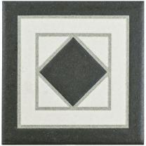 """SomerTile FPEVNBC Vanidad Porcelain Corner Floor and Wall Trim Tile, 4.25"""" x 4.25"""", White/Black"""
